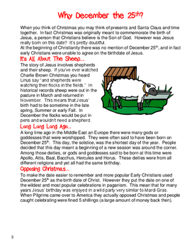 Christmas Close Reading Language and Writing Activities