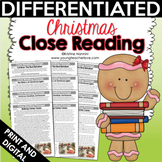 Close Reading: Christmas Differentiated Passages and Text-