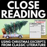 Close Reading Christmas Classics   No Prep Christmas Activity   Annotations