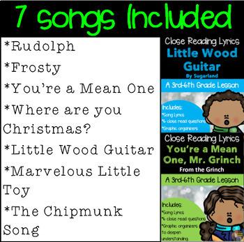 Where Are You Christmas Lyrics.Christmas Close Reads Using Lyrics Bundle Of All 7 Close Reads