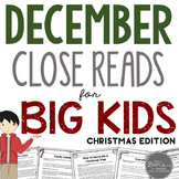 December Close Reads for BIG KIDS Common Core Aligned Chri