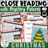 Christmas Close Reads w/ Mystery Picture Activity for Grades 3-6