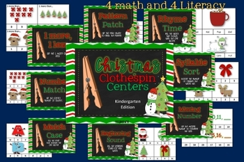 Christmas Clothespin Centers