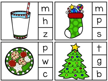 Christmas Clothespin Letter Sound Activity