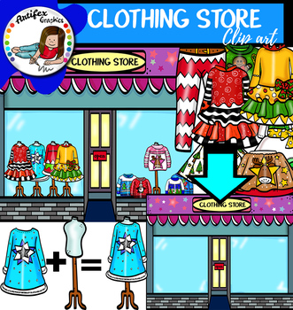 Christmas Clothing Store clip art