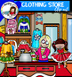Christmas Clothing Store clip art- Big set of 68 items!
