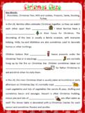 Christmas Cloze Passage Worksheet | Free/Freebie