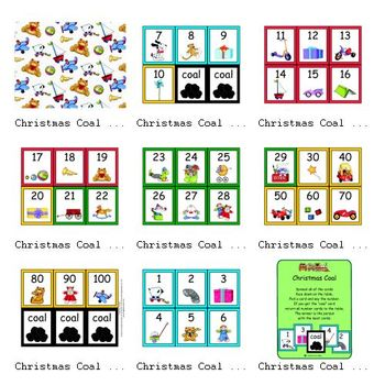Christmas Coal (Number Recognition Game)
