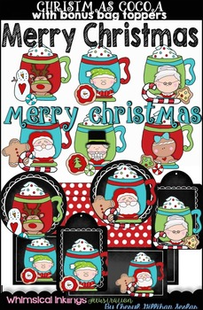 Christmas Cocoa Clipart Collection and Bag Toppers
