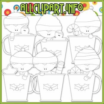 BUNDLED SET - Christmas Cocoa Kids Clip Art & Digital Stamp Bundle - Alice Smith