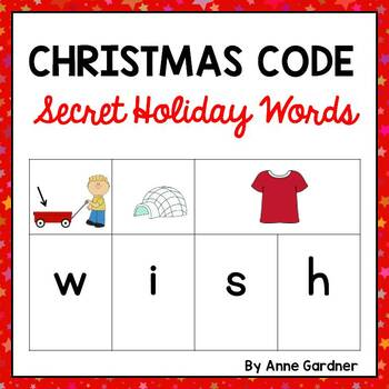 Christmas Code Word Cards for Literacy Centers and Group Games