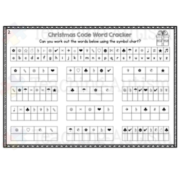 Christmas Code Word Cracker Fun Activity