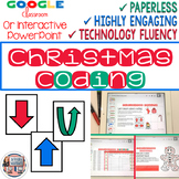 Christmas Coding Digital Interactive Activities for Google Slides or PowerPoint