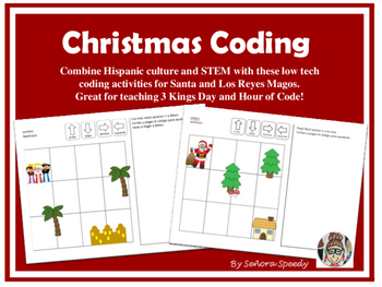 Christmas Coding - Reyes Magos & Papa Noel STEM Activities