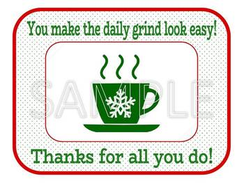 Christmas Coffee  - Holiday Gift Card Holder (4 per page)