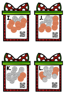 Christmas Coins: Dimes and Pennies