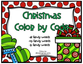 Christmas Color By CVC Code