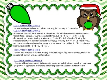 Christmas Color By Code Addition Facts sums 0-20 Free Sample Page