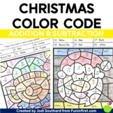 Christmas - Addition & Subtraction Color by Code