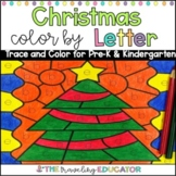 Christmas Color By Code Alphabet Trace Worksheets