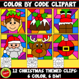 Christmas Color By Code Clipart