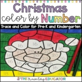 Christmas Color By Code Number Trace Worksheets