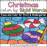 Christmas Color By Sight Words for Pre-K and Kindergarten