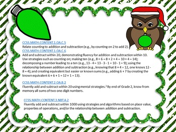 Christmas Color By Code Subtraction Facts 0-20 CCSS aligned sample page freebie