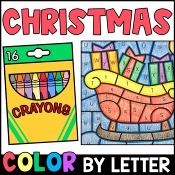 Christmas Color By Letter {PRINT & GO}