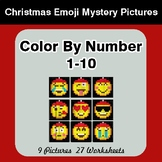 Christmas: Color By Number 1-10 | Christmas Emoji Mystery