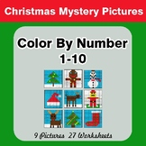 Christmas: Color By Number 1-10 | Christmas Mystery Pictures