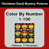Christmas: Color By Number 1-100 | Christmas Emoji Mystery