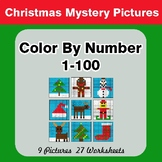 Christmas: Color By Number 1-100 | Christmas Mystery Pictures