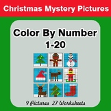 Christmas: Color By Number 1-20 | Christmas Mystery Pictures