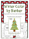 Christmas/Winter Color By Number