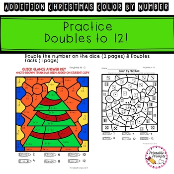 Christmas Color By Number- Addition
