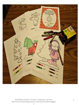 Color by Number Math, Color by Number Christmas, Special Education Math