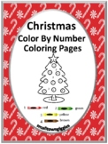 Christmas Color by Number Math Center Fine Motor P-K, K, Special Education Math