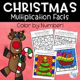 Christmas Color By Number Multiplication Facts