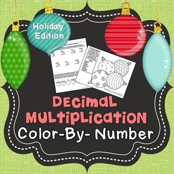 Christmas Color By Number (Decimal Multiplication)