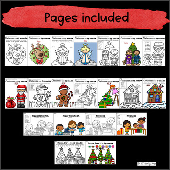 Christmas Color By Number  Addition & Subtraction Numbers 1-10