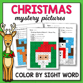 Christmas Color By Sight Word Pre-Primer - Christmas Activ