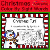 Christmas Color By Sight Words - Kindergarten