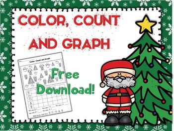 Christmas Color, Count and Graph