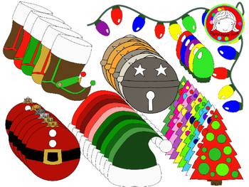 Christmas Color Explosion Clipart (Personal & Commercial Use)