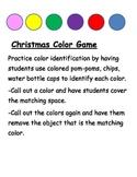 Christmas Color Mat Game