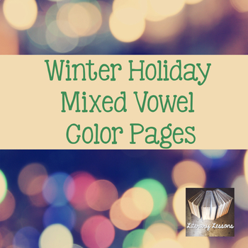 Christmas Color Pages CVC and Magic e