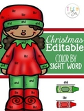 CHRISTMAS ACTIVITIES SIGHT WORD PRINTABLES EDITABLE
