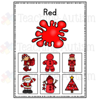 Christmas Color Sorting Cards, Colour Sorting