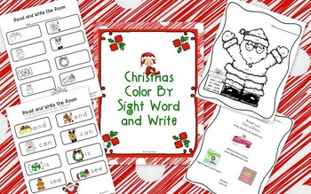Christmas Color & Write By Sight Word